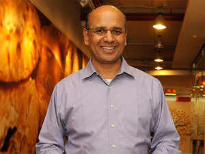 By the time Google came in at third position, the Intuit team was holding its collective breath.  In pic: Intuit India managing director Vijay Anand.