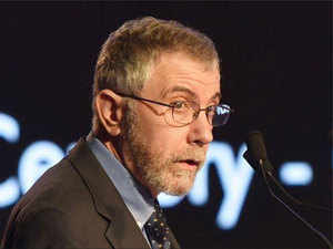 """""""Now that an international economist like Krugman has said rates should go down may be the RBI will listen because it is so far not heard pleas by local economists like us.""""  In Pic: Paul Krugman"""