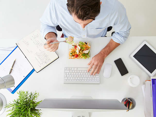 Don't work through lunch hours, taking a 30- minute break is an absolute necessity.