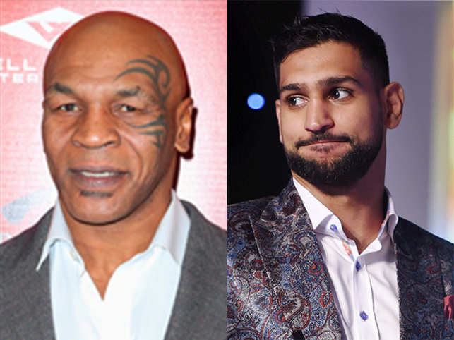 Mike Tyson (left) and Amir Khan (right)