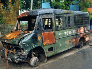 The irate mob torched around 12 police vehicles, looted and ransacked several houses in the area in Baduria.