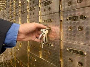Even though banks don't take responsibility, your valuables are safer in a locker than at home.