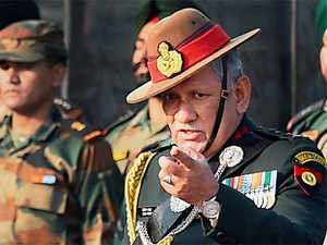 Preliminary investigations revealed that at least five attackers were involved in the firing and that they emptied around 150 cartridges before fleeing. ( In Pic--Army Chief Bipin Rawat)
