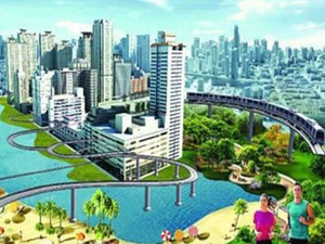 The capital being developed as a greenfield city will also be built using construction material that will be transported through a waterway.