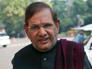 Sharad Yadav today met Congress chief Sonia Gandhi.