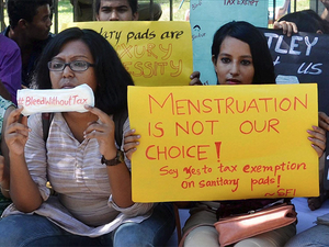 The 12% tax on sanitary pads has angered activists and women's rights groups who think women shouldn't have to 'pay' for using an essential commodity.