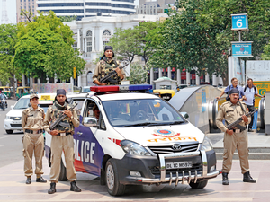 The vans are GPRS-enabled and fitted with pan-Delhi wireless communication. Each van is manned by a National Security Guard-trained driver, in-charge and three commandos.