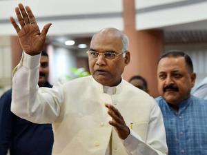 """Striking a light note, Modi said Kovind had once worked as an assistant to former PM Morarji Desai and now he would get an opportunity to work as a """"sahayak"""" to Kovind once he becomes President."""