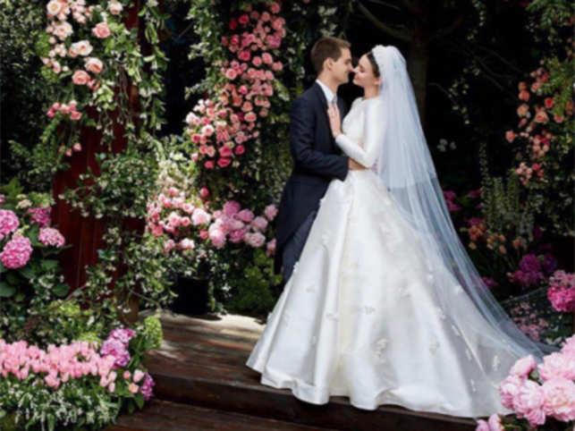 Miranda Kerr's wedding with Snapchat CEO Evan Spiegel looks