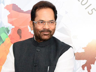 """""""Lynching is purely a case of crime. Please do not give it any communal colour, said   Mukhtar Abbas Naqvi."""