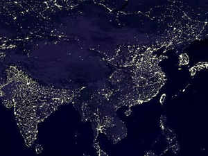 India Shines Brighter On NASA Map China Feels Slighted The - Map of the world from space at night