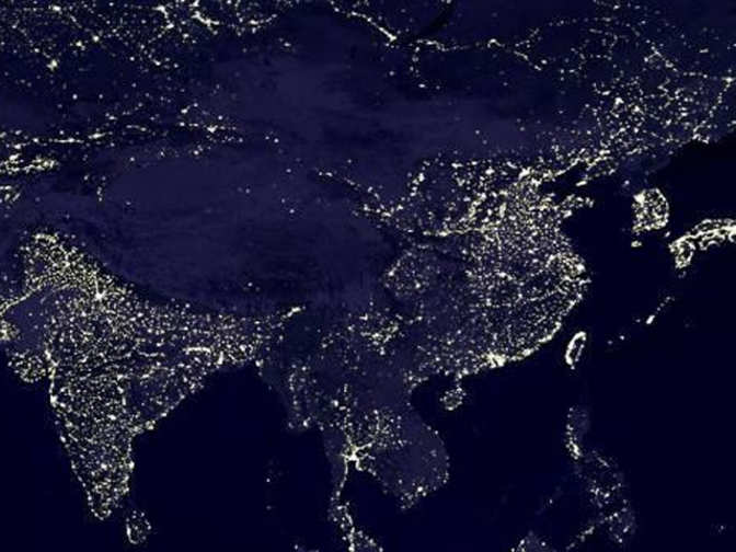 India shines brighter on NASA map, China feels slighted ...