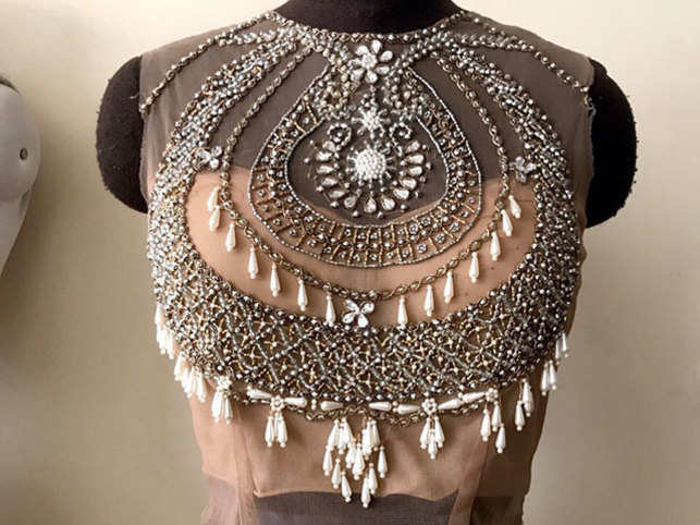 Pearls from South China and kundan from Chandini Chowk adorn the collection.