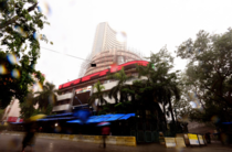 The BSE Sensex was trading 171 points, or 0.53 per cent, lower at 32,213.
