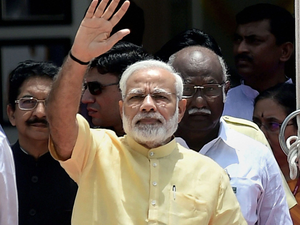 After Khanapara, Modi visited the Administrative Staff College where he met with top officials to take stock of the flood situation and relief works.