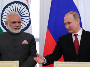 Russia has been one of India's major suppliers of arms and ammunition.