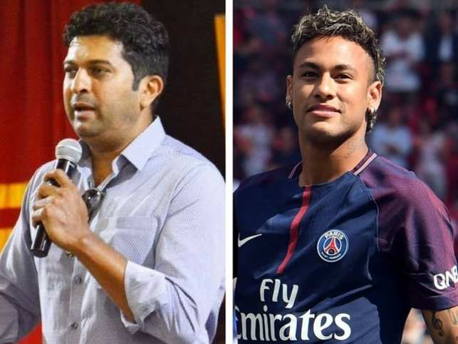 Neymar's obsession with the minutiae of his gear reminded Jatin Paranjpe of teammate Sachin Tendulkar.  (Image: Facebook/Jatin Paranjpe & AFP)