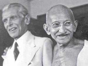 Gandhi and Jinnah in Bombay