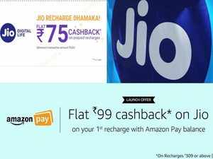 Reliance Jio's cashback offer is valid for a recharge above Rs 300 and is a one-time arrangement.