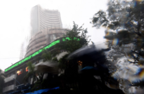 The BSE Sensex was trading 39 points, or 0.12 per cent, lower at 31,810.