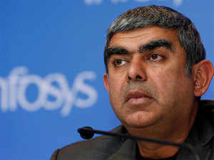 The $10-billion company's growth has slowed down sharply after having risen in Sikka's first two years.