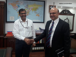 Ashwani Lohani, who was at the helm for nearly two years, handed over the Air India CMD charge to Rajiv Bansal.