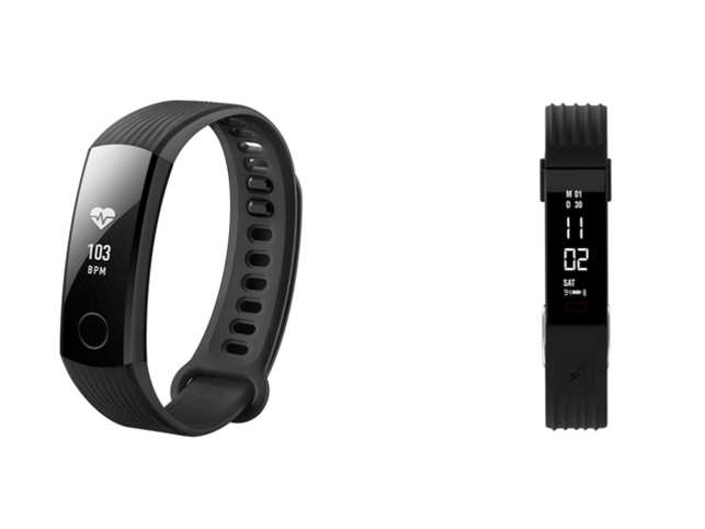 Honor Band 3 (left) for Rs 2,799 and Boltt Verve (right) for Rs 1,699.