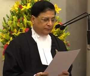 Justice Dipak Misra sworn in as Chief Justice of India