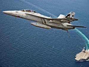 Specifically aiming at the Navy's planned acquisition of 57 multi-role carrier-borne fighters (MRCBF), Boeing said F/A 18 Super Hornet would be the ideal jet for the Navy's carrier.