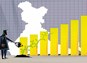 Independent economists have forecast India's gross domestic product to have grown 6.5% in the first quarter of 2017-18, lower than the 7.9% growth in the year ago period.