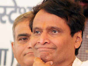 Prabhu, whose tenure as Railway Minister has seen several train accidents, was present at the event.
