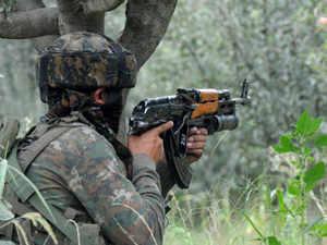 Gunbattle on between militants and forces in Sopore