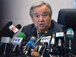 """""""It is true that scientists caution us about linking any single weather event with climate change,"""" Guterres said."""