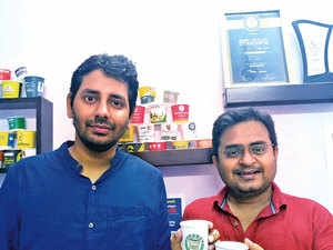 Sanil Jain (left), and Siddharth Singh, Co-founders, CupShup, helps to expand reach of brands and aims to treble its revenue in 2017-18 to Rs 3 crore.