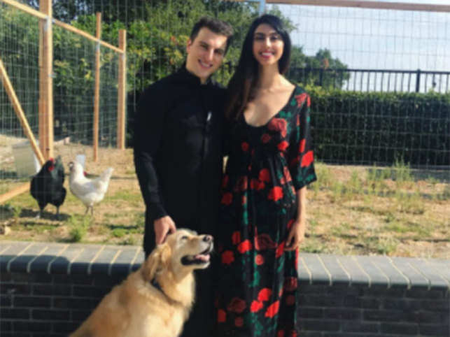 Pictures of Chesky with girlfriend Elissa Patel and their dog Richard are a regular feature on his Instagram account.  (Image: Instagram)