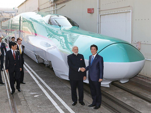 The countdown to India's first bullet train from Ahmedabad to Mumbai began today with Prime Minister Narendra Modi and his Japanese counterpart Shinzo Abe launching the Rs 1.10 lakh crore project.