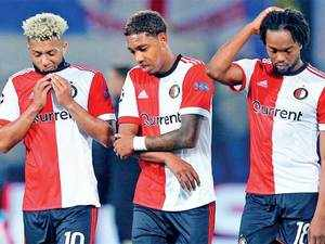 Feyenoord were thrashed by Manchester City.