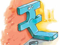 The rupee on Friday opened 3 paise down at 64.15 against dollar on account of buying in American currency by banks and importers amid persistent foreign capital outflows.