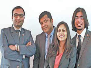 Threadsol co-founders (from left): Bratish Goswami, Abhishek Srivastava, Mausmi Ambastha and Manasij Ganguly helps optimise the usage of fabric.