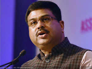 Pradhan was in city for the foundation stone laying ceremony of a Regional Vocational Training Institutes