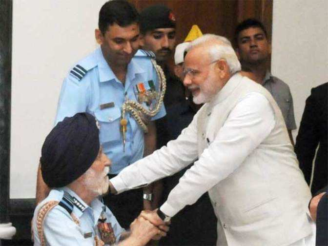 Image result for India will never forget Arjan Singh's leadership in 1965 war: Modi
