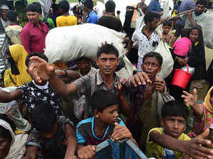 Bangladesh has been overwhelmed by the exodus and struggling to house the refugees in the shelters being built with assistance from UN and other international organisations.