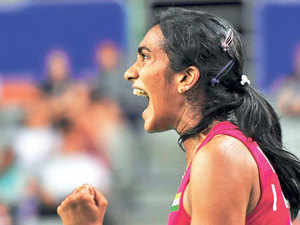 """""""But I am just happy that I won today. It was a good match. There were long rallies. Even she played well,"""" said Sindhu."""