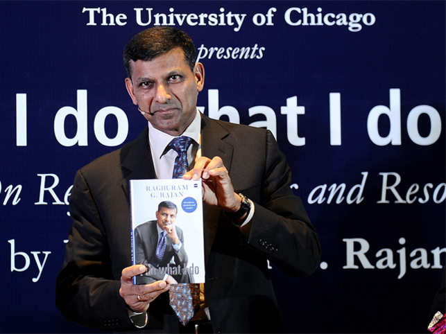 Former Reserve Bank of India governor Raghuram Rajan during the Book Launch 'I do what I do'.