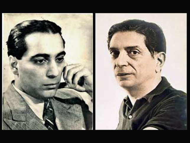 Homi Bhabha (left), Ardeshir Davierwalla (right).
