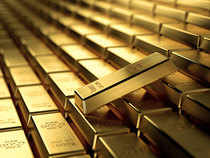 At the Multi Commodity Exchange, gold for delivery in October was trading lower by Rs 265 or 0.89 per cent at Rs 29,509 per 10 grams in a business turnover of 1,311 lots.