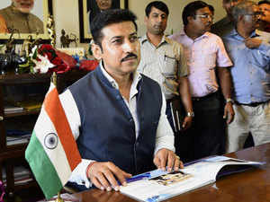 We are identifying colleges where sports facilities can be created, says Rajyavardhan Singh Rathore.