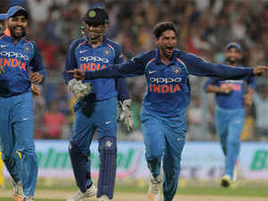 """""""Kuldeep Yadav is a rare & special talent. Delighted with his progress. Great hat-trick @imkuldeep18 & a wonderful victory for India."""""""