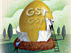 The government's revenue may be threatened in the coming months by the new goods and services tax, implemented July 1.
