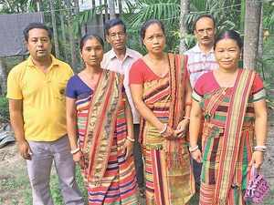 The Hajong, who are Hindus, fled East Pakistan's Mymensingh district because of threats of conversion to Islam and harassment by government authorities. (In pic: Membera of Hajong tribe)